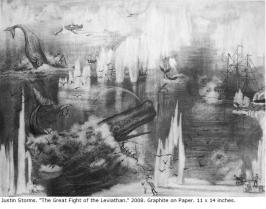 Storms_The_great_fight_of_the_Leviathan_2008_Graphite_on_Paper_11x14in.JPG