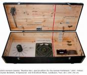 Homann_Saadat_Munition_Box_special_edition_for_the_German_Parliament_2007_Timber_Cluster_Bomblets_Antipersonal_and_Antivehicle_Mines_Cardboard_Text_60x140x40cm.jpg